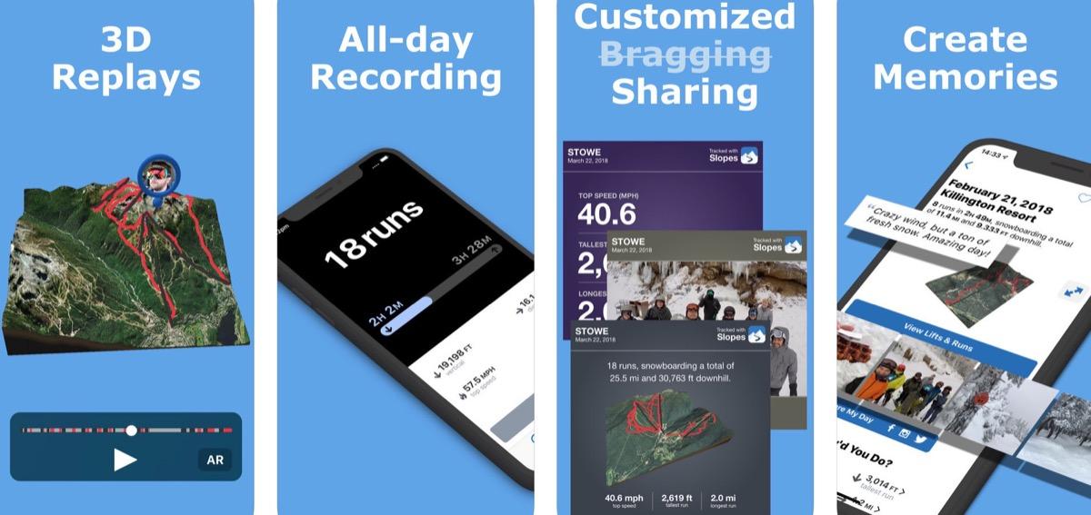 Slopes, l'app per monitorare gli sport invernali da iPhone e Apple Watch
