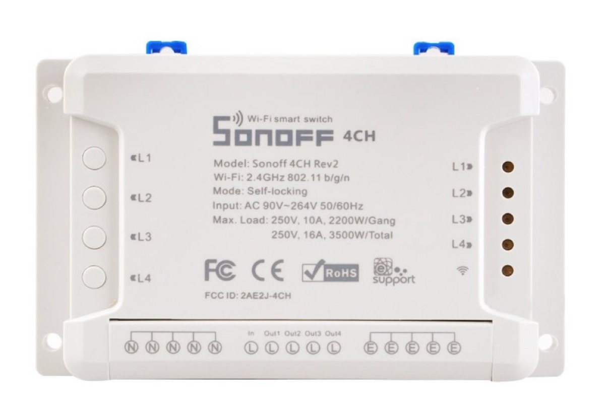 Switch Sonoff 4 canali, tecnologia Smart a tutti gli elettrodomestici: sconto 22,99 euro