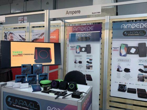 Unravel, al CES 2019 il caricatore wireless ripiegabile di Ampere