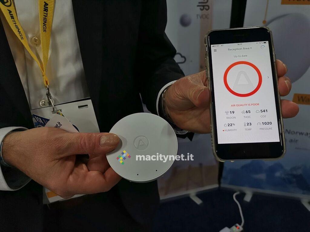Al CES 2019 Airthings misura la qualità dell'aria in casa