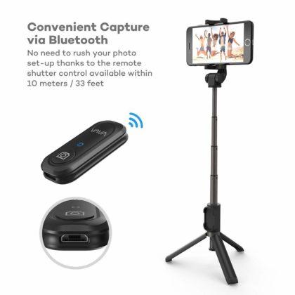 Vava 2-in-1, il bastone per selfie con treppiede e telecomando incorporati