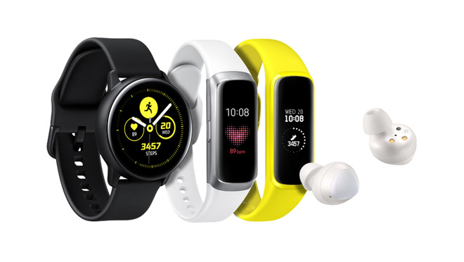 Galaxy Watch Active, Galaxy Fit e Galaxy Buds, i nuovi indossabili Samsung