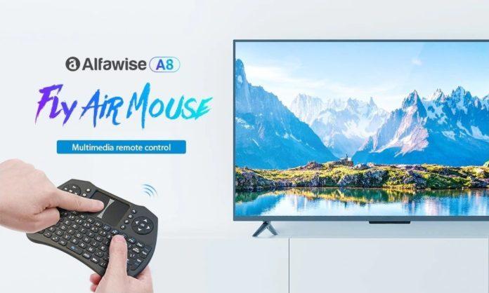 Alfawise A8, la tastiera wireless che funge anche da air mouse a soli 5 euro