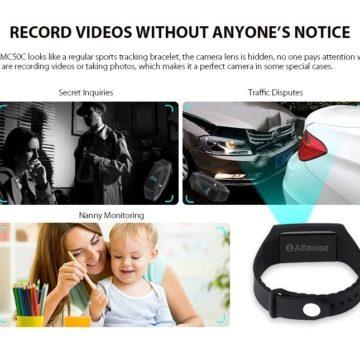 Alfawise MC50C, la smartband con fotocamera integrata, per riprese discrete
