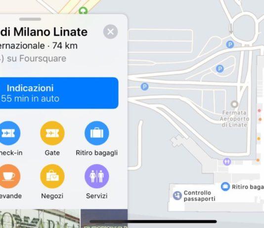 37197eb389ff Apple Mappe cresce, ora con le mappe interne di Milano Linate e due outlet  italiani