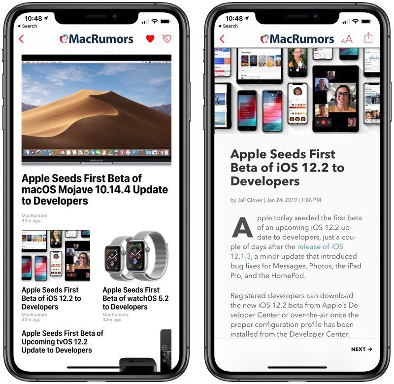 Terza beta iOS 12.2 agli sviluppatori