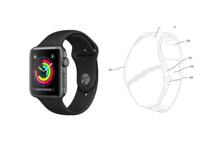 Apple ha registrato il brevetto di un Apple Watch con display flessibile integrato nel cinturino