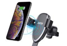 Supporto smartphone per auto con ricarica wireless in sconto a 20,79 euro
