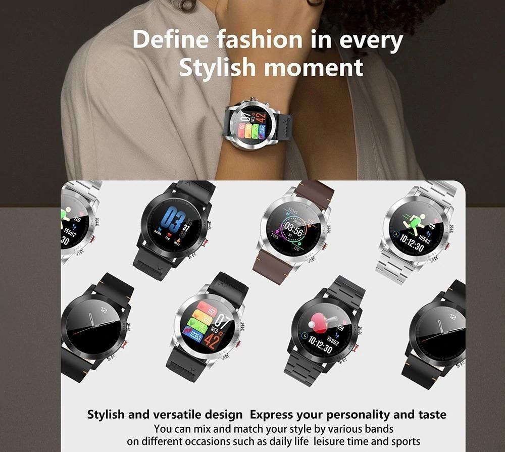 DT NO.I S10: 6 stili per smartwatch con battito cardiaco e..