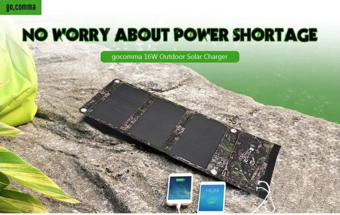 Gocomma LSFC, il comodo caricabatterie solare 16 W ad un prezzo eccellente