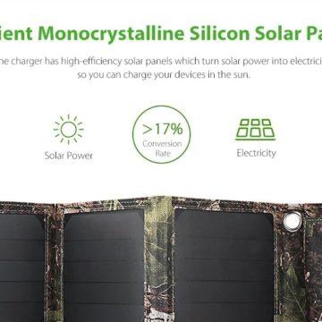 Gocomma LSFC, caricabatterie solare 16 W e 5V ad un prezzo eccellente