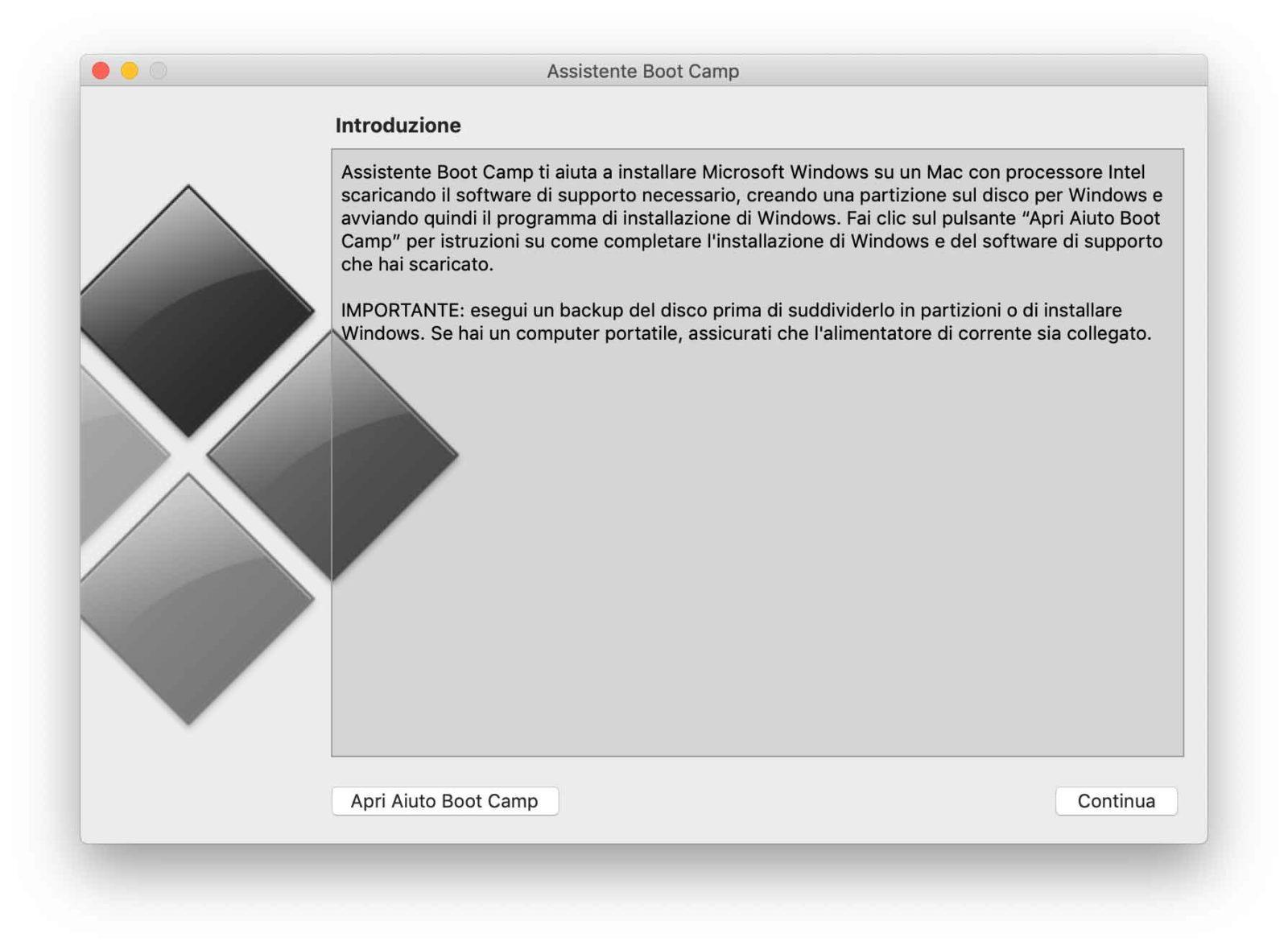 Installare Windows 10 sul Mac con Boot Camp