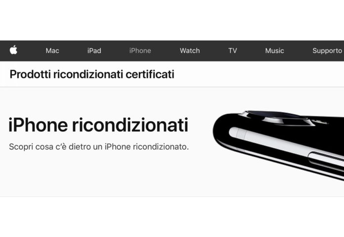 Apple vende iPhone ricondizionati in Italia