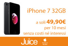 Da Juice iPhone 7 e 7 Plus in offerta a 499 euro in 10 rate con PagoDIL