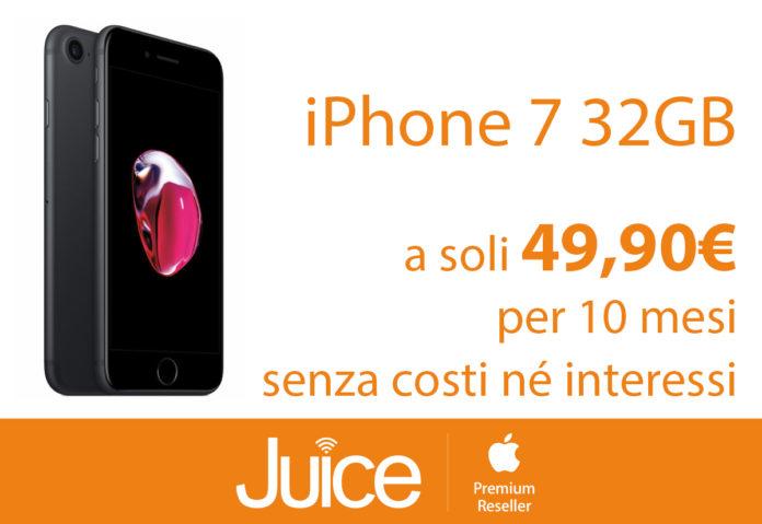Da Juice iPhone 7 e 7 Plus in offerta a 499 euro in 10 rate con PagoDIL