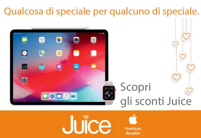 Juice per San Valentino sconta di 50 euro iPad e 30 euro su Apple Watch