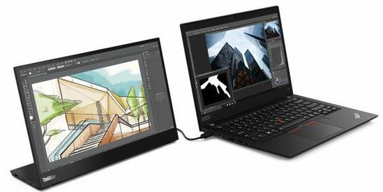 Lenovo ThinkVision M14, presentato a MWC19 il monitor USB-C portatile
