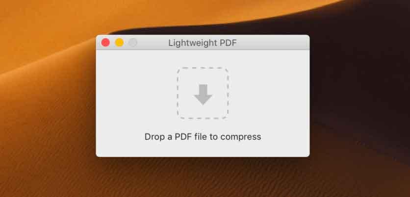Compressione di un file PDF con Lightweight PDF