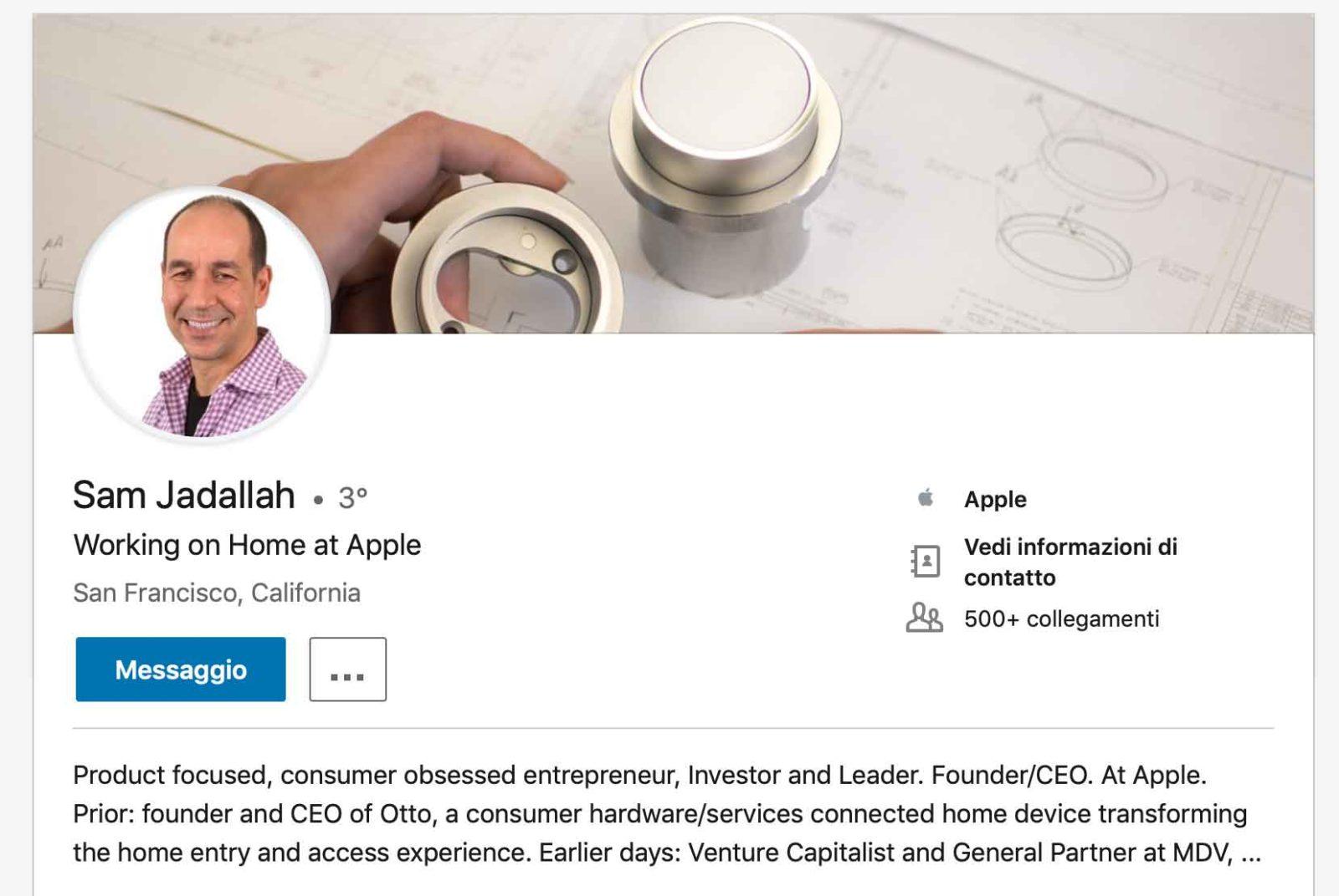 Profilo di Sam Jadallah su LinkedIn