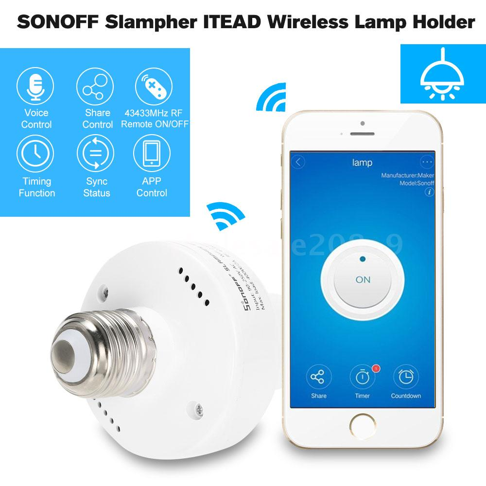 SONOFF Slampher, il portalampada E27 che rende smart tutte le lampade