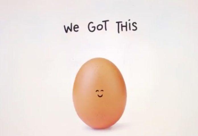 L'uovo dei record di Instagram si rompe per una campagna per la salute mentale