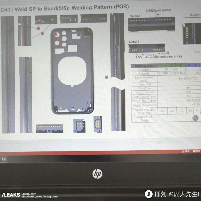 iPhone XI compare nelle presunte schematiche