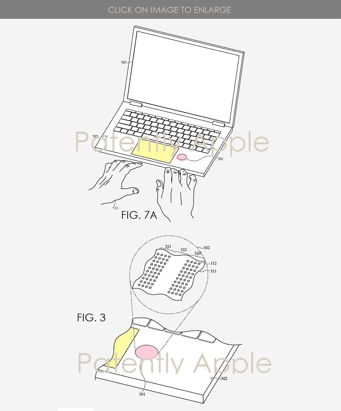 Brevetto Apple sensoe MacBook