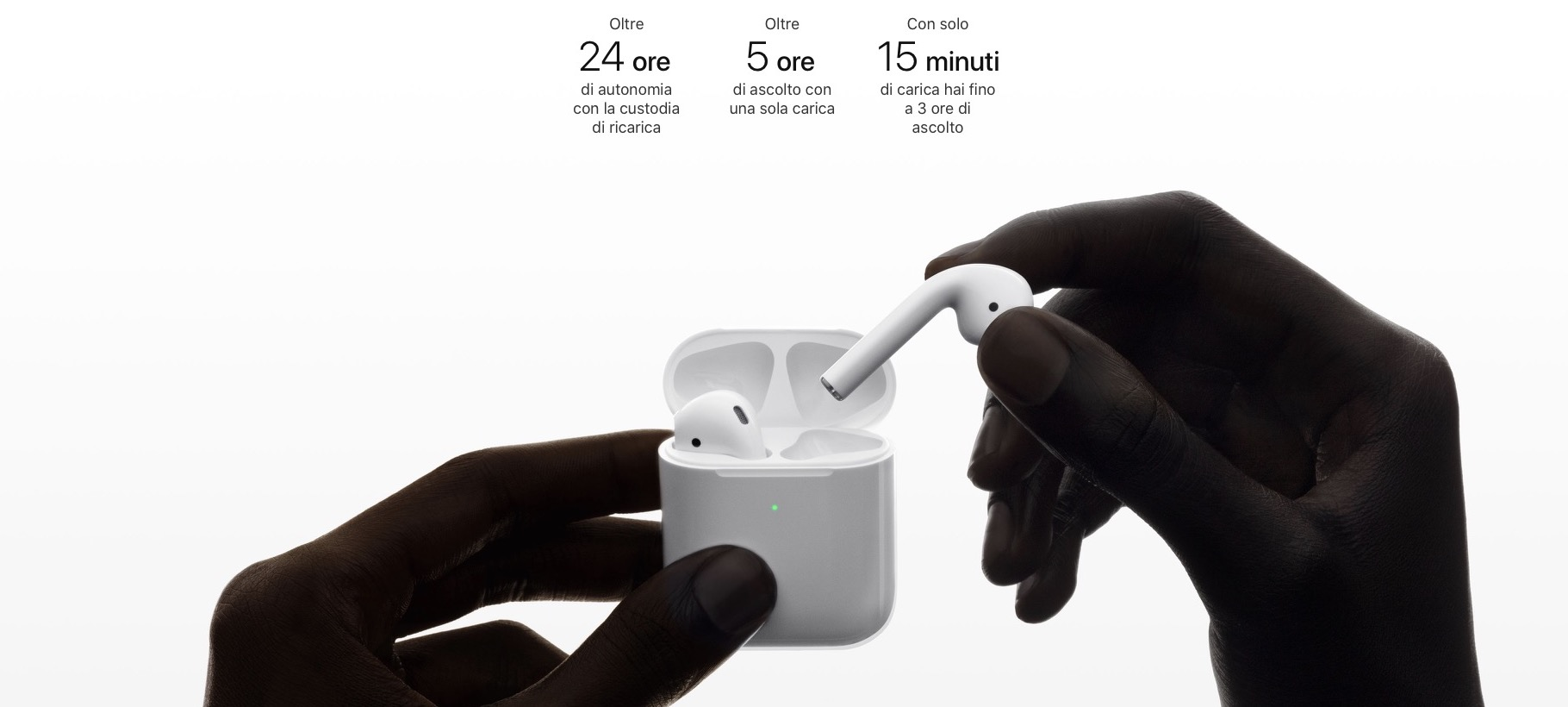 apple airpods 2carica