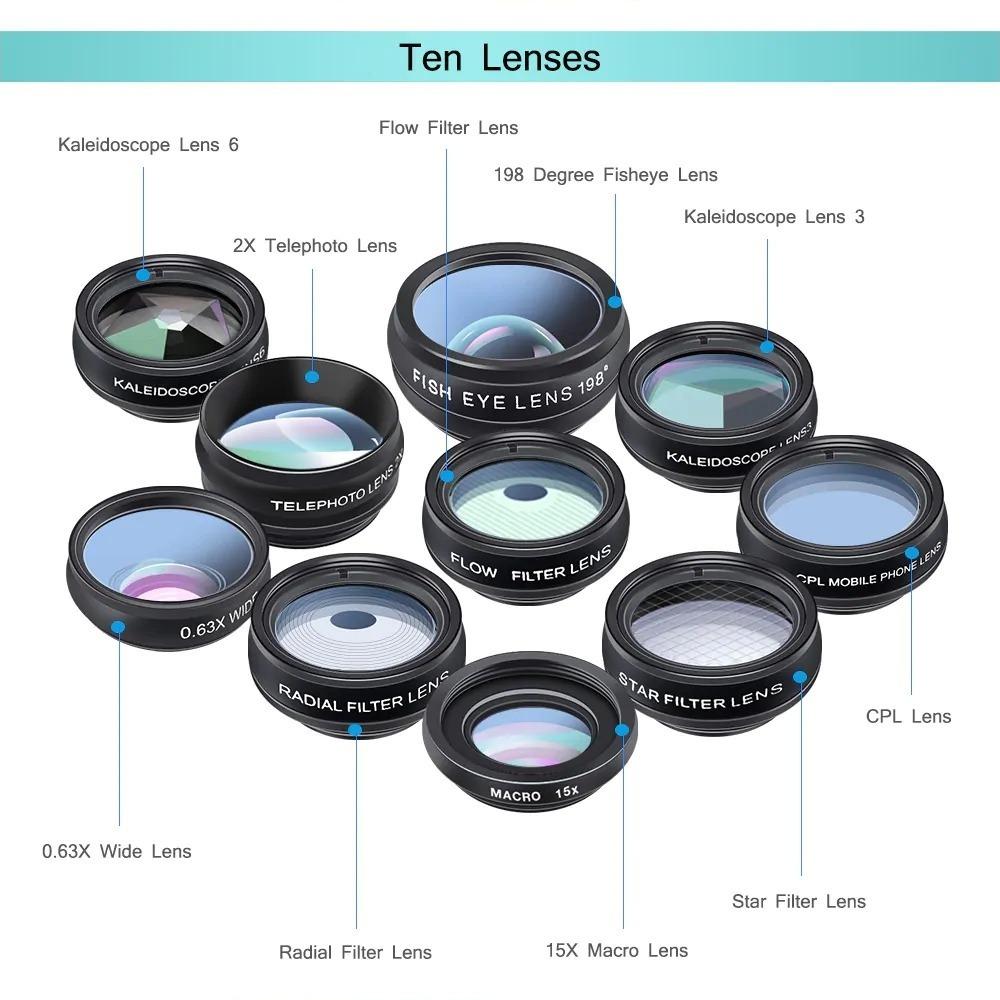 10 obbiettivi fotografici per smartphone a soli 14 euro con Apexel APL DG10