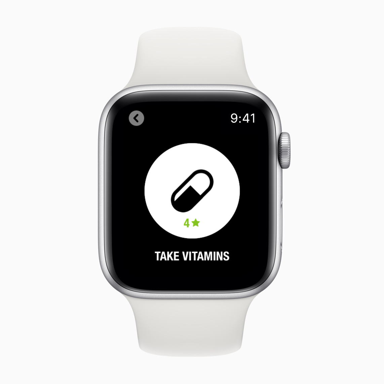 I comandi rapidi di Siri aiutano gli utenti a monitorare le abitudini quotidiane nell'app Streaks. Basta chiedere a Siri di registrare le varie attività, dall'assunzione di liquidi all'esercizio fisico, dall'assunzione di vitamine alle passeggiate con il cane.