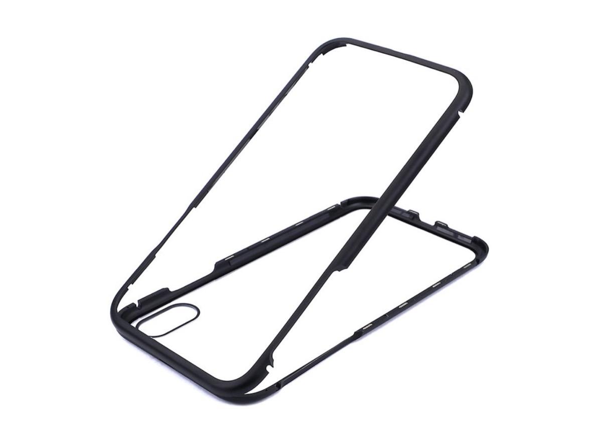 Custodia per iPhone X in metallo e vetro temperato a soli 6,99 euro