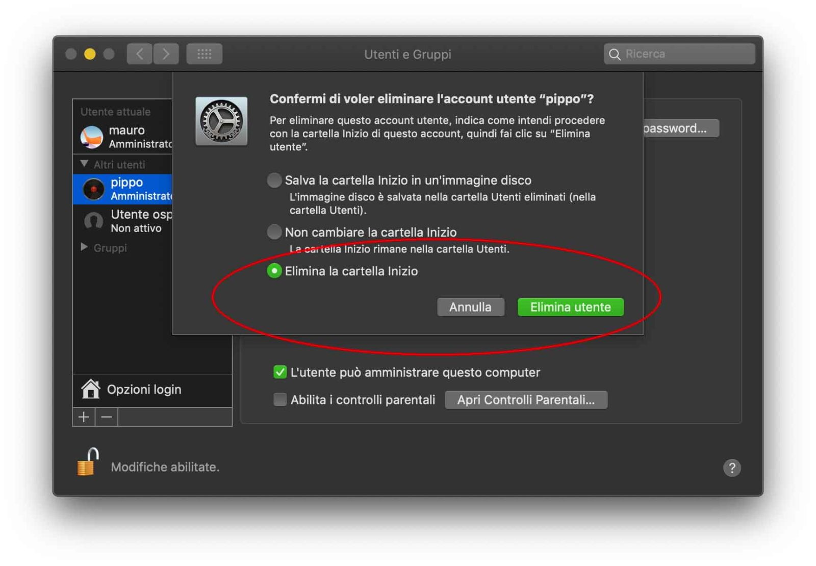 macOS Mojave e High Sierra, come creare un account amministratore partendo da un account standard