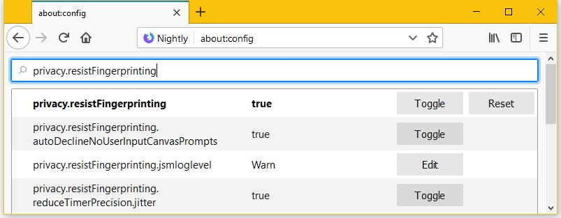 Opzioni in Firefox