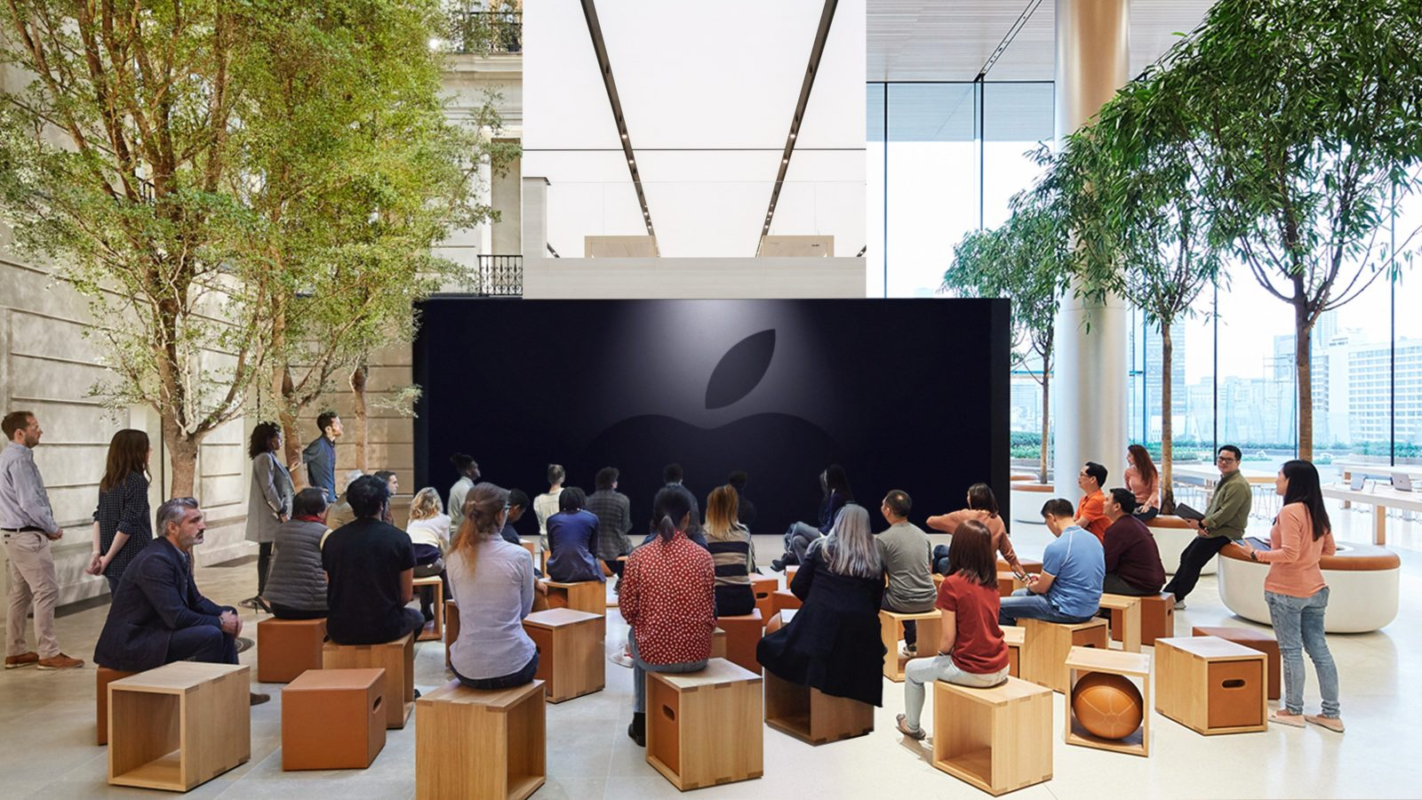 Come le finali di Champions, l'evento Apple 25 marzo si segue sul maxi schermo negli Apple Store
