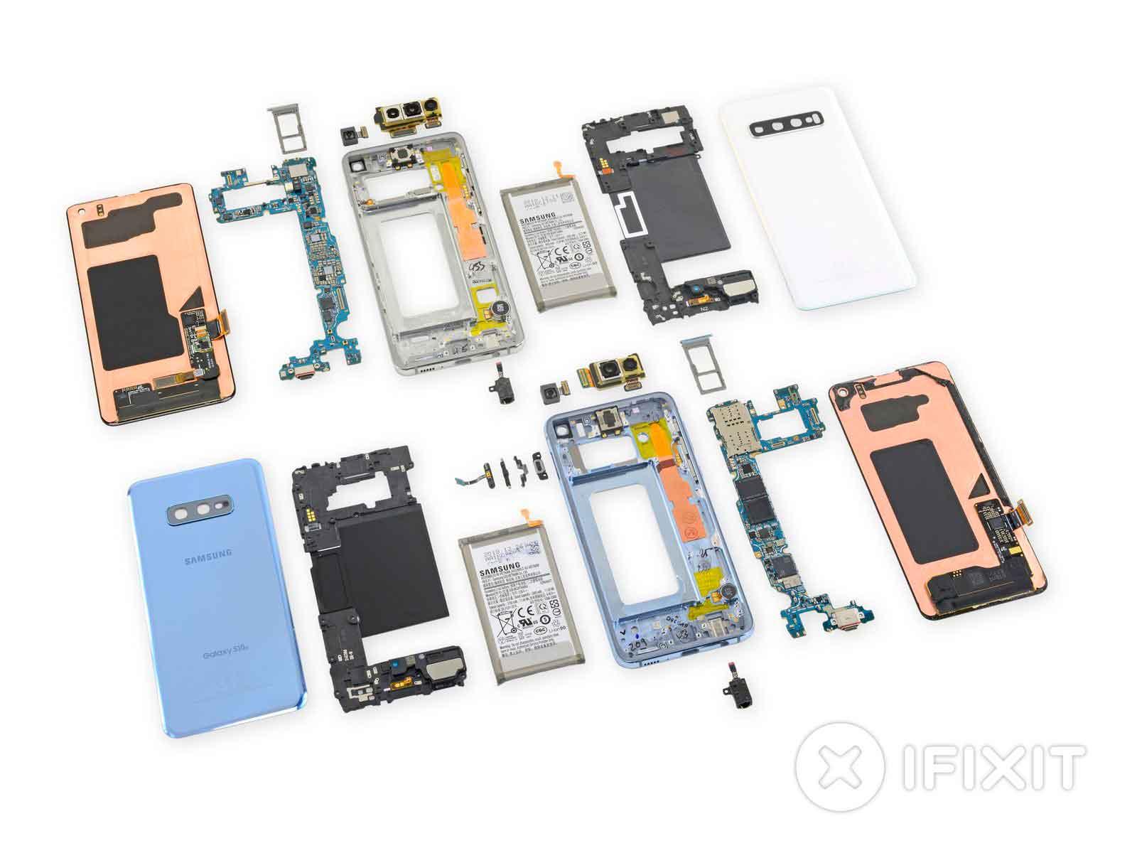 Samsung Galaxy S10 smontato: non sarà facile da riparare