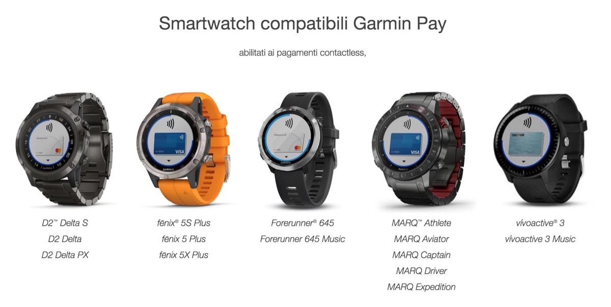 Garmin Pay è disponibile per oltre 100 banche italiane