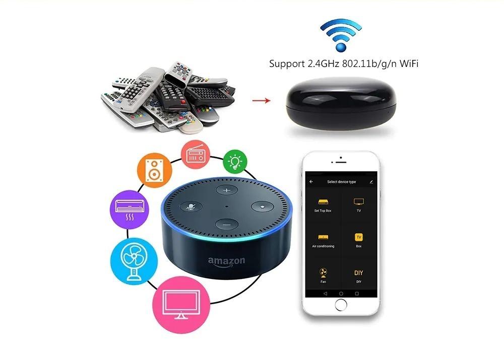 Gocomma R9, telecomando universale Wi-Fi compatibile con, Siri, Alexa a Assistente Google