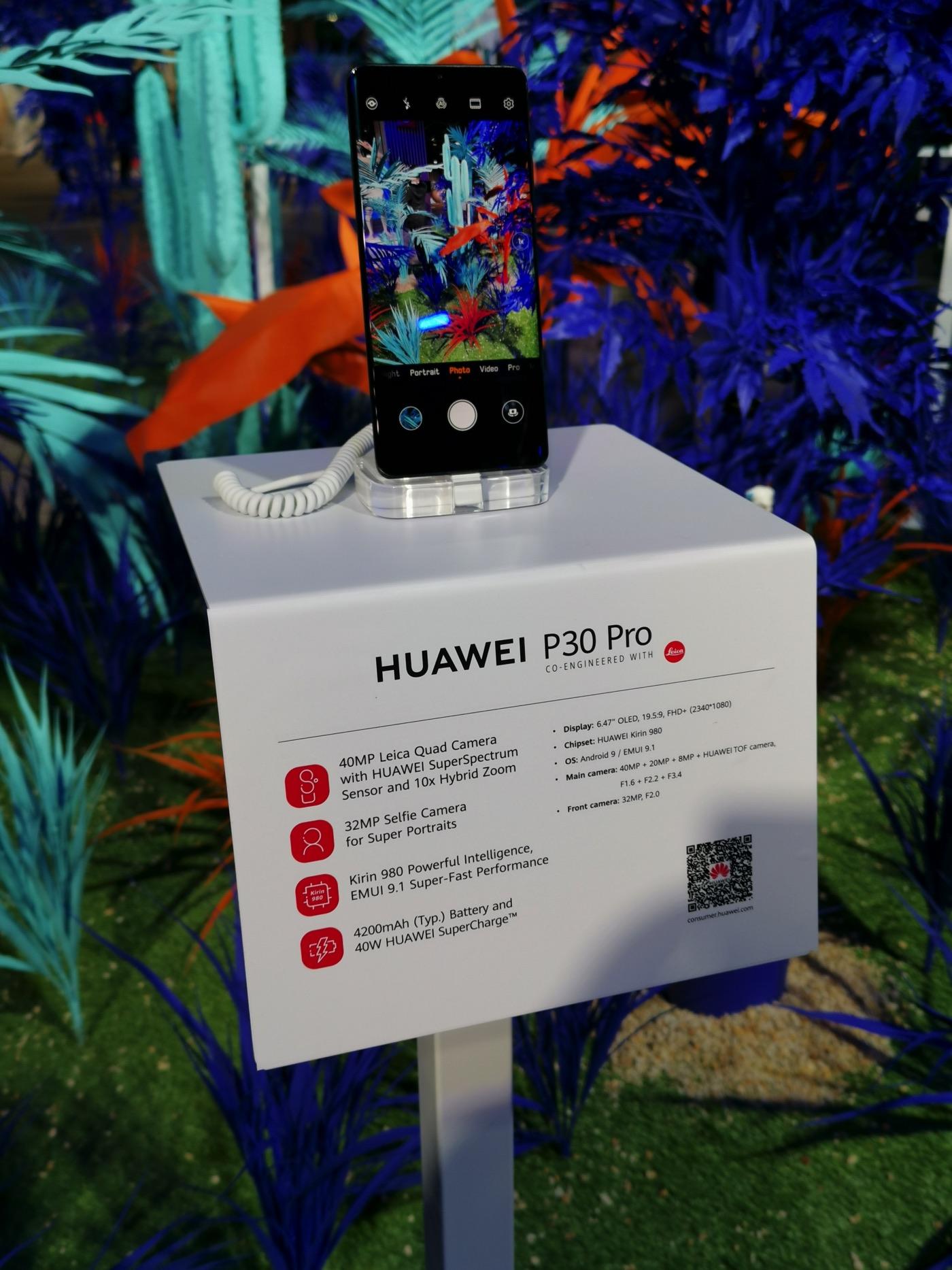 Fotogallerie dei nuovi Huawei P30 e P30 Pro visti da vicino