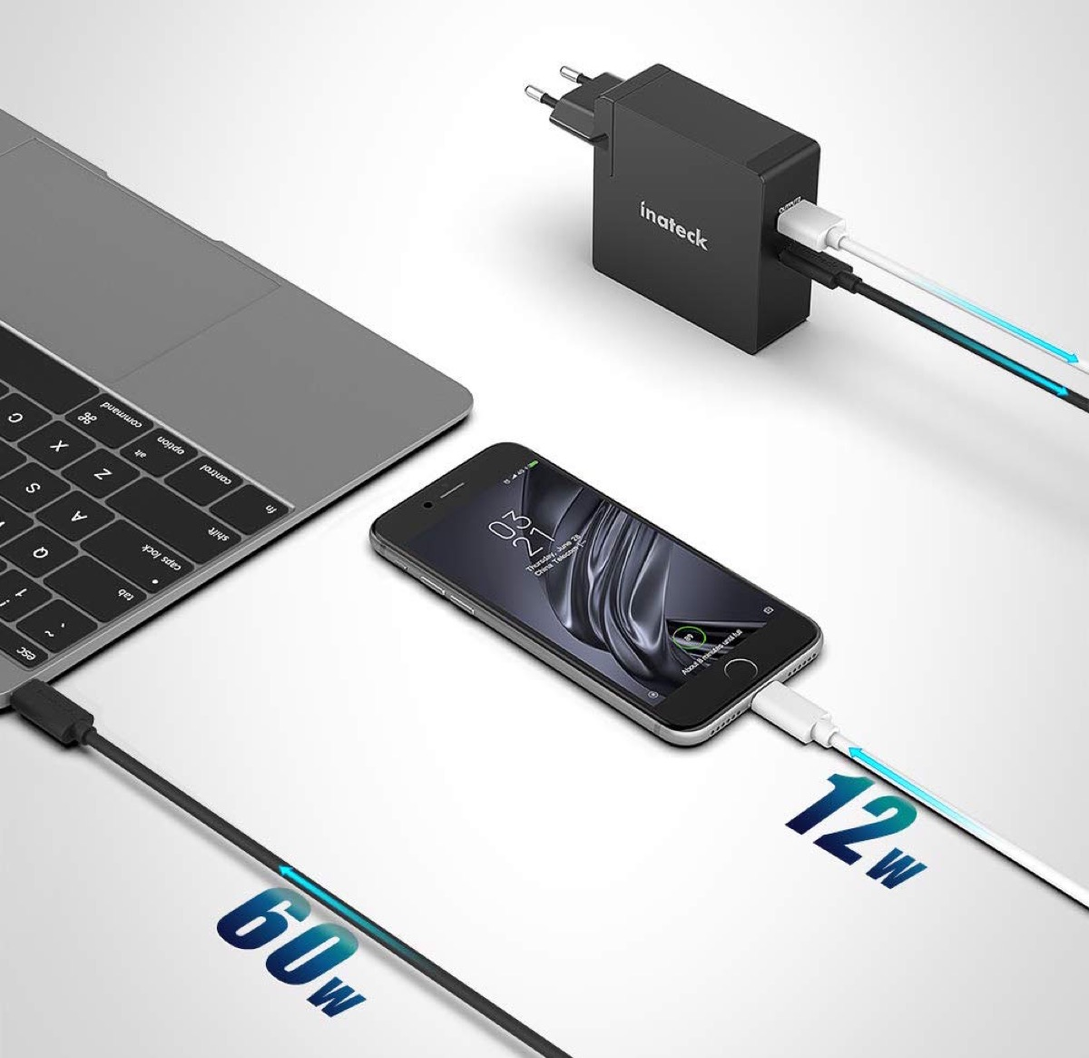 Inateck CC01003, caricatore da viaggio con USB-C e cavo incluso in sconto a 44,99 euro