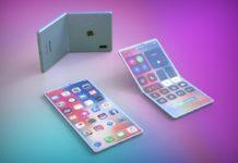 l'approssimativa rappresentazione di un iPhone pieghevole