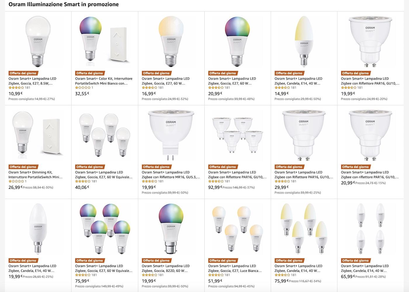 Super Offerte Domotica Osram su Amazon: strisce led, lampade e prese da esterno con sconti fino al 60%