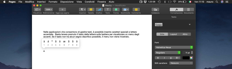 Lettere accentate su macOS