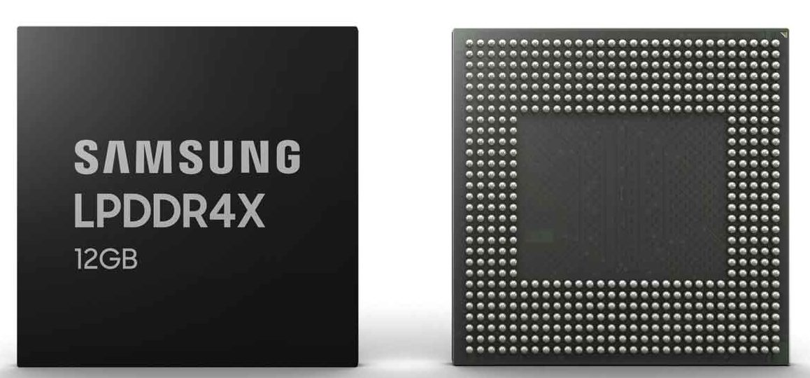 Samsung Electronics ha presentato un modulo LPDDR4X da 12GB per i futuri smartphone
