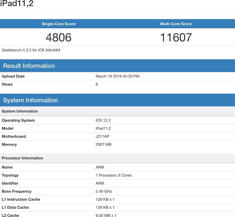 benchmark nuovi iPad