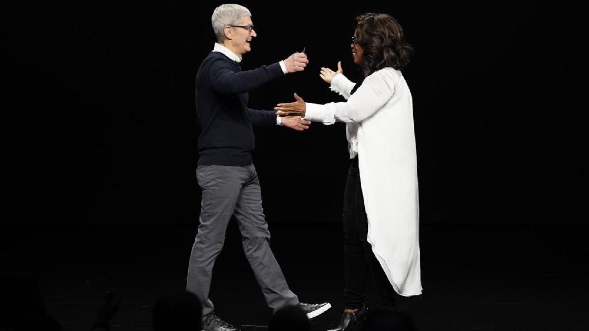 Una Oprah da Oscar commuove anche Tim Cook