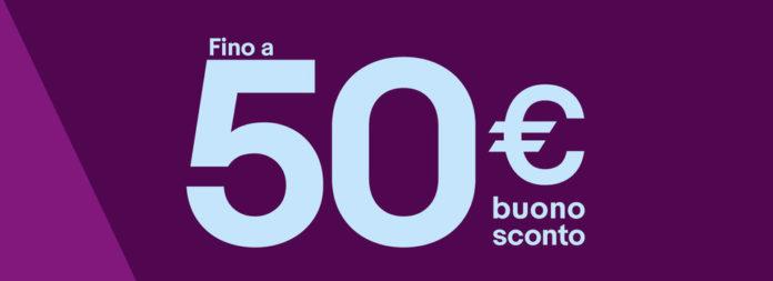 Buono sconto eBay fino a 50 euro, anche su iPhone e Apple Watch
