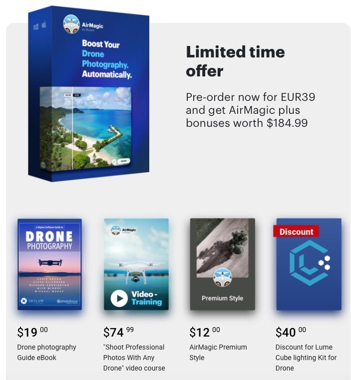 AirMagic, un click per migliorare le foto dal drone