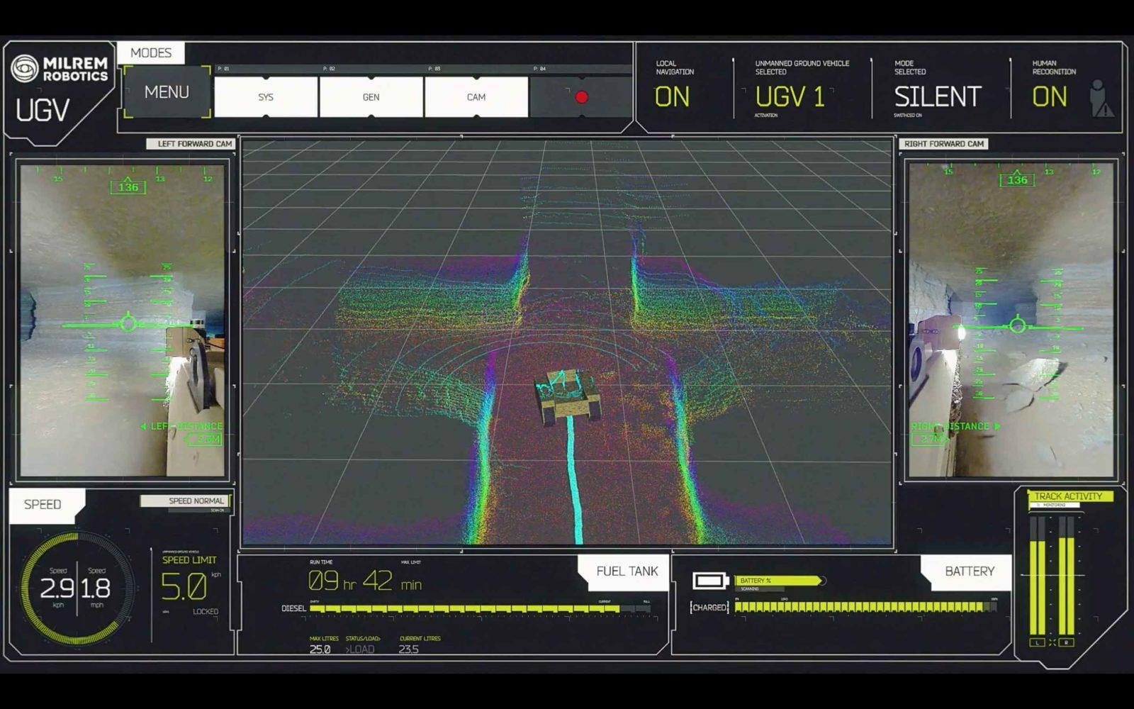 Lettura sensori 3D LiDAR del robot Multiscope