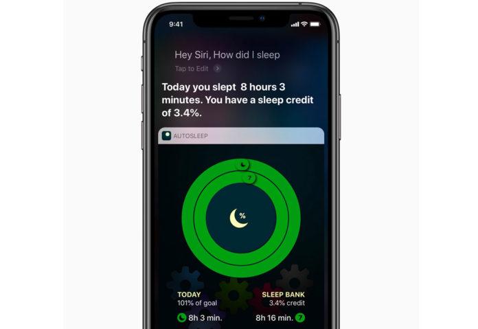 È possibile chiedere a Siri di monitorare la durata e la qualità del sonno usando i comandi rapidi con l'app AutoSleep.