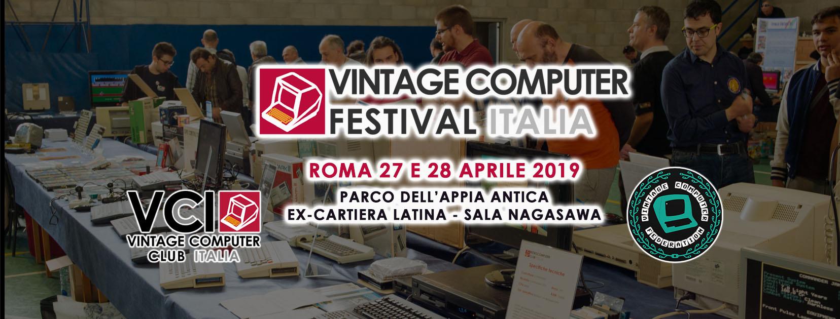 MMN collabora e partecipa al Vintage Computer Festival Italia 2019 a Roma il 27-28 aprile